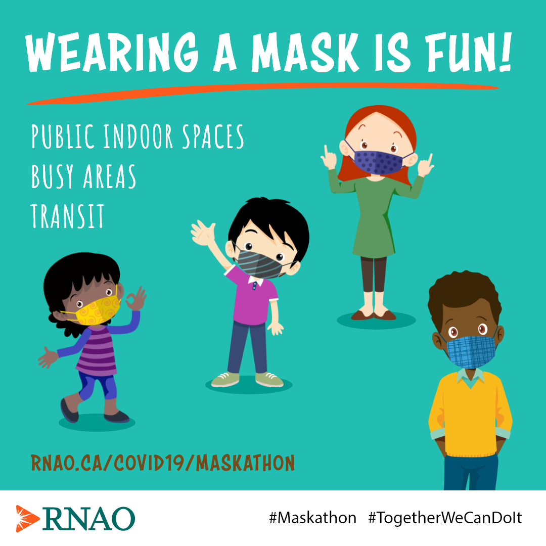 Children wearing a mask and having fun doing it