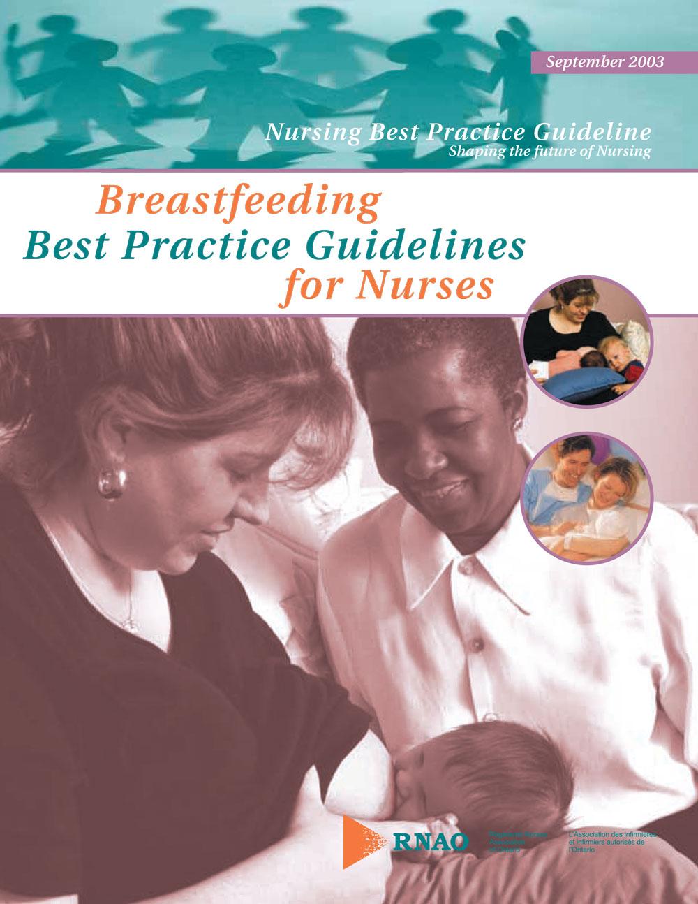 Breastfeeding Educational Resources MotherInfant Self Reflection Breastfeeding Best Practice Guidelines For Nurses Cover Breastfeeding Educational Resources Motherinfant Selfreflection Guide Nurse