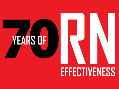 70 Years of RN Effectiveness logo