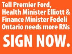 Tell Premier Ford, Health Minister Elliott and Finance Minister Fedeli that peop