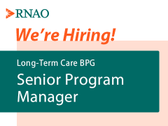 Hiring now: Long-term care BPG senior program manager