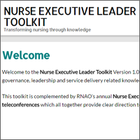 Nurse Executive Leader Toolkit